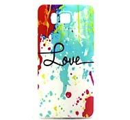 Love with Splash-ink Pattern TPU Soft Back Cover Case for Samsung Galaxy Alpha G850F