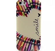 Color Pen Pattern TPU Painted Soft Back Cover for iPhone 5/5S