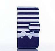 bowknot Muster PU-Leder Ganzkörper-Fall mit Ständer für iPhone 5s