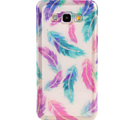 Feather Pattern TPU Soft Case for Galaxy A8