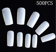 500 шт натуральный цвет полная советы ногтей акриловыми ногтей подсказки искусства