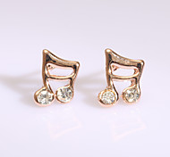 European  Fashion Drill Series 12 Earring Stud Earrings Wedding/Party/Daily/Casual 2pcs