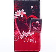 Plum Blossom Pattern with Card Bag Full Body Case for Huawei P8