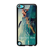 Personalized Phone Case - Live Free Design Metal Case for iPod Touch 5