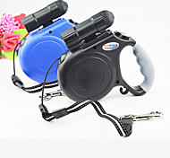 Top Grade Night Travel Safety Retractable Dog Leashes Lead with Led Ligths for Dogs and Pets