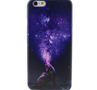 Wolf in the Night Sky Pattern TPU Painted Soft Back Cover for iPhone 6/6S