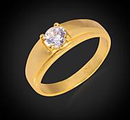u7® 5 mm de alta calidad 1 ct chispa anillos de circonio cúbico chapado en oro de 18 quilates de 4 fuegos púa