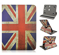 The Union Jack Pattern 360 Degree Rotation High Quality PU Leather with Stand Case for 10 Inch Universal Tablet