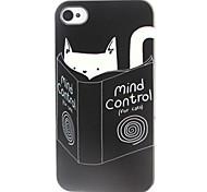 chat et livres modèle TPU cas de téléphone pour iPhone 4 / 4S