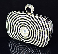 Handbag Satin/Crystal/ Rhinestone/Metal/Imitation Pearl Evening Handbags With