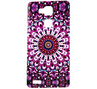 Purple Printing Pattern TPU Material Phone Case for Huawei Mate 7
