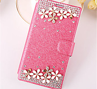 For Samsung Galaxy Case Card Holder / Rhinestone / with Stand / Flip Case Full Body Case 3D Cartoon PU Leather SamsungWin / Style Duos /