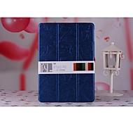 cubierta dura elegante estuche de plástico estela delgada con soporte para Apple iPad aire 5 (color clasificado)