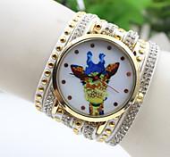 Fashion Women's Giraffe National Crystal Rivet South Korea Style Bracelet Watch