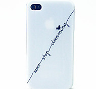 bianco letterspattern cassa del telefono materiale TPU per il iPhone 4 / 4s