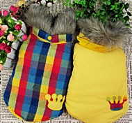 Yellow/Fashion Cotton Coats For Dogs