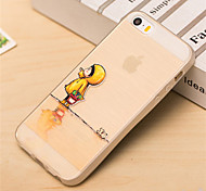 Raincoat Baby Pattern TPU Soft Back Cover for iPhone 5/5S