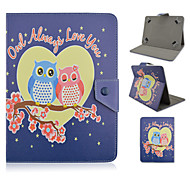Owl Lovers Pattern High Quality  PU Leather with Stand Case for 10 Inch Universal Tablet