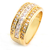 Size 10 High Quality Women White Sapphire Rings 10KT Yellow Gold Filled Ring