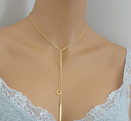Fashion Simple Necklaces,Bar Necklace,Gold Necklace Clavicle Necklace