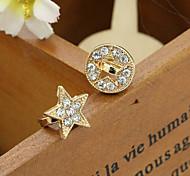 Earring,Stud EarringsJewelry 2pcs Rhinestone / Gold Plated Silver