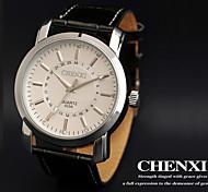 CHENXI® Men's Dress Watch Business Design Black Leather Strap Wrist Watch Cool Watch Unique Watch