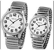 Couple's Casual Digital Clear Dial Quartz Wrist Watch Elderly Man's Watch Cool Watches Unique Watches