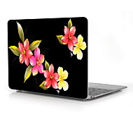 "Elegant Flower Design Full-Body Protective Case for 12"" Inch The New Macbook with Retina Display (2015 Release)"