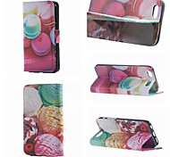 Bread and Ice Cream Ball Pattern PU Leather Double-Sided Leather Diagram For iPhone 5/5S