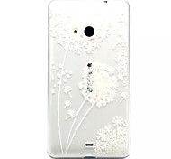 For Nokia Case Transparent / Embossed Case Back Cover Case Dandelion Soft TPU Nokia Nokia Lumia 535 / Nokia Lumia 435