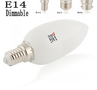 LeXing Lighting Lâmpada Vela Decorativa E14/B22/E26/E27 4 W 150-180LM LM 2700-3200K/ 4000-4500K / 6000-7000K KBranco Quente/Branco