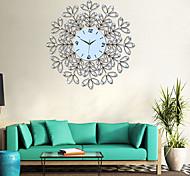 tamanho grande e moderna ferro rodada relógio de parede
