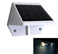 valla de panel de energía solar 4 liderado cuneta aplique jardín al aire libre