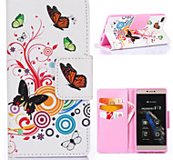 Butterfly Pattern with Card Bag Full Body Case for Huawei P8