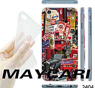 que la caja trasera patrón impresión británico TPU transparente suave para el iphone 6