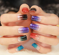 Color Gradient Nail Art Glitter Sticker