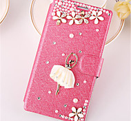 For Samsung Galaxy Case Card Holder / Rhinestone / with Stand / Flip Case Full Body Case 3D Cartoon PU Leather SamsungTrend Duos / Trend