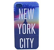 New York City Pattern PC Material Phone Case for iPhone 4/4S