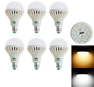Zweihnder  E27 9W 850LM 3000-3500K/6000-6500K 28x3528 SMD White/Warm White Light Bulb Lamp (85-265V) (6Pcs)