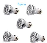 5pcs E27 / GU10 / GU5.3 5w 350-400lm llevó la luz del bulbo del punto (85-265V)