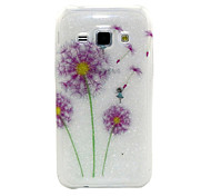 Color Dandelion Pattern Glitter TPU Cell Phone Soft Shell For Galaxy J1/ J5 /J7 /G530 /G360