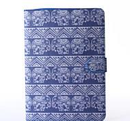 olifanten patroon pu lederen full body case met standaard voor Samsung Galaxy Tab 9.7 een T550