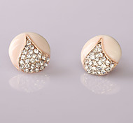Fashion  New Style Diamond Series 15 Stud Earrings Wedding/Party/Daily/Casual 2pcs