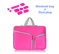 "Solid Colors Zipper bag with Silicone Dust Plug for Macbook Air 11.6""  (Assorted Colors)"