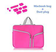 """alta qualidade saco de manga alça de zíper com plugue poeira silicone para MacBook Pro de 15,4 """"(cores sortidas)"""