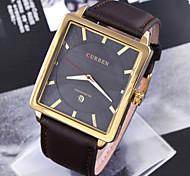 relógio clássica forma simples quare relógios de quartzo diamante dos homens