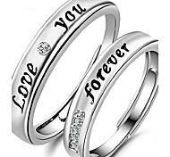 English LOVE Eternal Lovers Silver Ring(a pair of selling) Promis rings for couples
