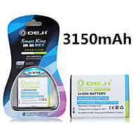 ji de alta capacidad 3150mah 3.8v batería de repuesto del li-ion para la galaxia Nota 2 N7100 n7108 n7102 N719