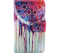 Windmill Pattern PU Leather Painted Phone Case For Nokia N435