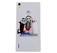Imp Pattern TPU Material Soft Phone Case for Huawei P7